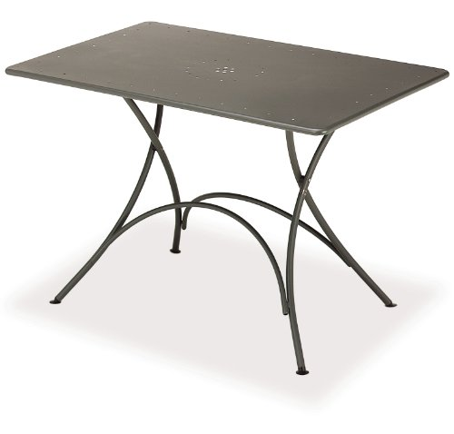 Tavolo Pigalle rettangolare pieghevole cm. 118 x 76 Art. 903 colore Ferro Antico cod. 22