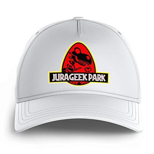 OKIWOKI Yoshi - Jurassic Park Lustiges Weiß Kinder Kappe - Yoshi und Jurassic Park (Yoshi - Jurassic Park Parodie signiert Hochwertiges Kappe - Einheitsgröße - Ref : 430)
