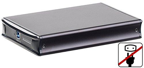 Xystec Externes Gehäuse: Netzteilloses USB-3.0-HDD-Gehäuse für 3,5