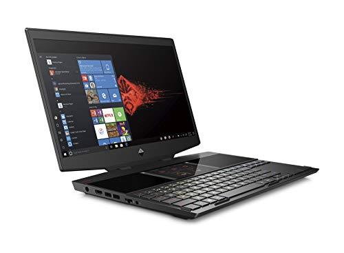 HP Omen 15-dg0001na 240Hz FHD IPS Dual Display Gaming Laptop – i7 9750H, 32GB DDR4, 1TB EVO Plus NVMe SSD, Nvidia RTX 2070 Max Q, WIFI 6 & Bluetooth 5 Windows 10 Pro - UK Keyboard Layout - Plain Box