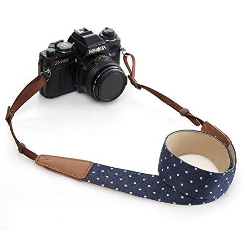 BestTrendy ユニバーサルカメラストラップ 一眼レフ/デジタル一眼レフ用 ニコン/キヤノン対応 ブルー
