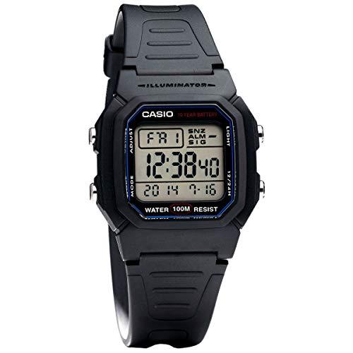 Casio reloj para hombre multifuncional de pantalla Digital correa de plástico reloj w-800h - 1aves