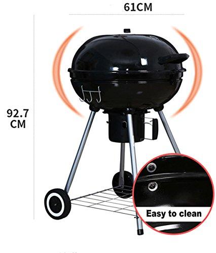 416YxhauzvL. SL500  - Lhl BBQ Grill, Outdoor Grill, Holzkohlegrill, tragbarer Klappgrill, 65cm * 61cm * 93cm