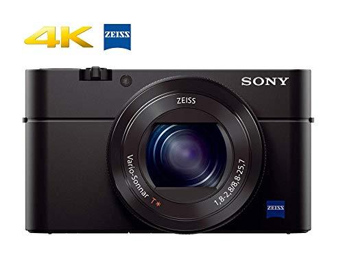 Sony RX100 IV 20.1 MP Premium Compact Digital Camera w/1-inch Sensor, 4K Movies 40x Super Slow Motion HD DSCRX100M4/B (Renewed)