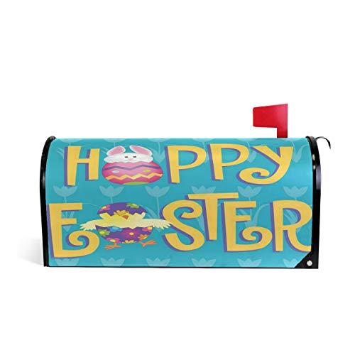 Wamika Happy Easter Bunny Boîte aux Lettres magnétique pour boîte aux Lettres Motif Lapin de Pâques Taille Standard 52.6x45.8cm Multicolore