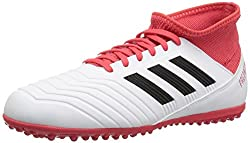 White and Pink adidas Originals Kids ACE Tango 18.3 Soccer Shoe
