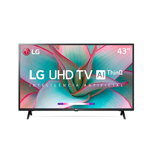 "Smart TV LG 43"" 4K UHD WiFi Bluetooth HDR Inteligência Artificial ThinQ AI Google Assistente Alexa"