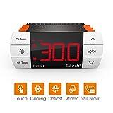 Controlador de Temperatura de un boton tactil digital de facil uso/Termostato con dos relés control de enfriamiento y descongelamiento se incluyen dos