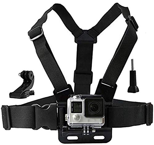 Eyeon Chesty Chest Mount Strap Harness Brustgurt Halterung Brustband Brusthalterung mit J-Haken Zubehör Set für GoPro Hero 7/6/5/4/3, Xiaomi YI, SJCAM, Campark, Victure, Crosstour, Apeman Kamera