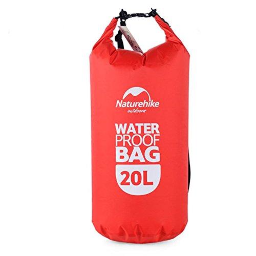 TRRE Voyage en plein air sacs étanches sac dérivantes snorkeling plage natation sac, 5L / 20L / 60L ( Couleur : Rouge , taille : 20L )