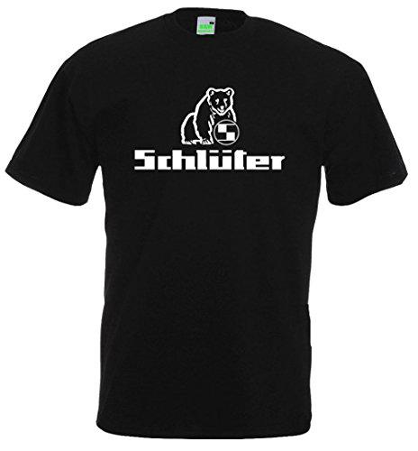 Schlüter T-Shirt | Schwarz | Druck in weiß | Größe L