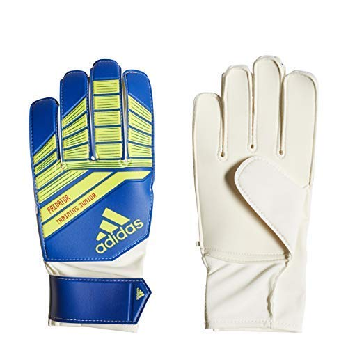 adidas Youth Predator Goalkeeper Glove, Football Blue/Bold Blue/Solar Yellow, Size 5