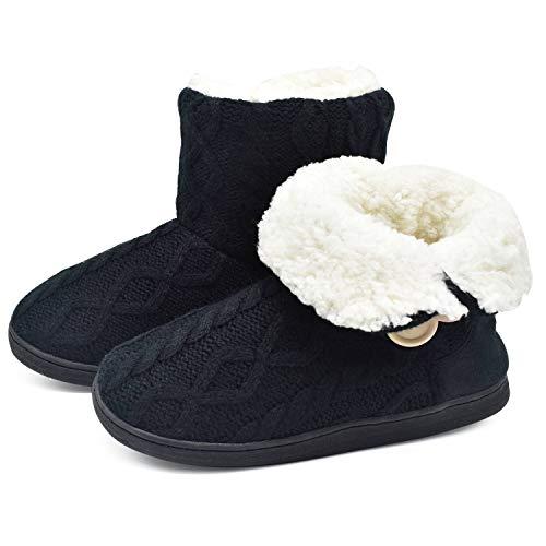 ONCAI Pantofole da Donna Stivaletto Comodi Stivali in Maglia Pantofola Interna per Esterni Calda Invernale