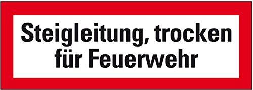 LEMAX® Feuerwehrschild Steigleitung, trocken für Feuerwehr, Folie, selbstkl., 210x74mm