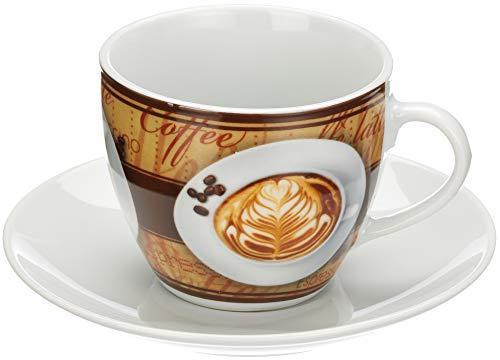Mäser, Serie Coffee Fantastic, 4 Kaffeetassen, jeweils mit Untertasse, Porzellan Geschir im 8er-Set