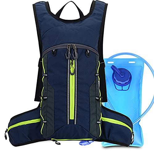 DYJXIGO Mochila de Senderismo con Riding 2l Bolsa de Agua, hidratación Rucks Mochila Transpirable Daypack Bolsas Deportivas Viajes de Trekking para Mujeres Hombres Blue