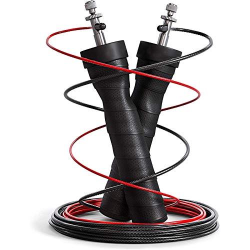 JTXQSI Saltar la Velocidad de la Cuerda Ponderado de la Cuerda para los Hombres Mujeres Pro Ball Rodamientos Antideslizantes Handle Handout Fitness Deportes Entrenamiento