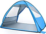 MOVTOTOP Beach Tent 【2021 Newest】, Large Pop up Beach Tent for 4 People, Anti-UV Automatic Beach Tent Sun Shelter Instant Portable, 4 Sides Ventilation Sun Shelter Tents, Suitable for Family