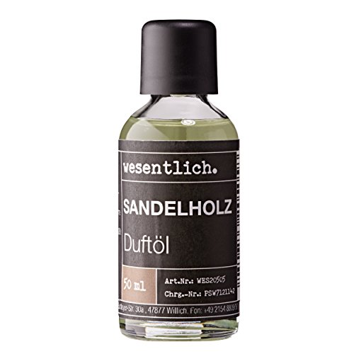 Sandelholz Duftöl 50ml - Premium Raumduft für Lampen und Diffuser - Wellness für die Sinne von wesentlich.