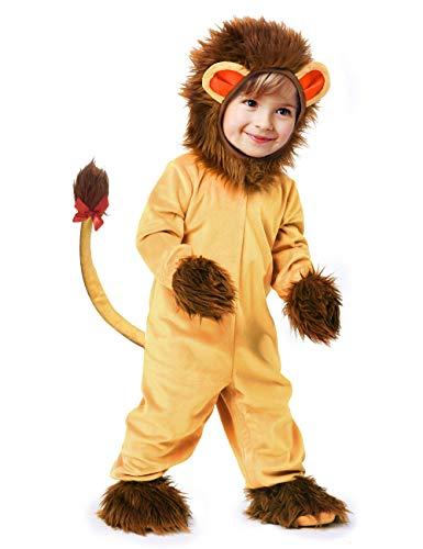 IKALI Disfraz de león para bebé, Pijamas de animales de halloween,Mono de mameluco de un tamaño 5piezas