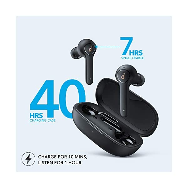 Anker Soundcore Life P2 True Wireless Earbuds with 4 Microphones, CVC 8.0 Noise Reduction, Graphene Driver, Clear Sound, USB C, 40H Playtime, IPX7 Waterproof, Wireless Earphones for Work, Home Office 6