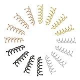 angelikashalala 16 paquetes de horquillas en espiral para el pelo sin arañazos, puntas re...