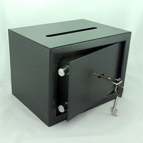 Tresor Safe Möbeltresor mit Einwurfschlitz - Doppelbart-Schlüssel - ca. 6 l