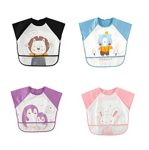 4 * baby maaltijd jurk slabbetje babyschort kinderen waterdicht anti-slijtage korte mouwen zomer kinderen schilderen schort ongeveer 2 jaar oud