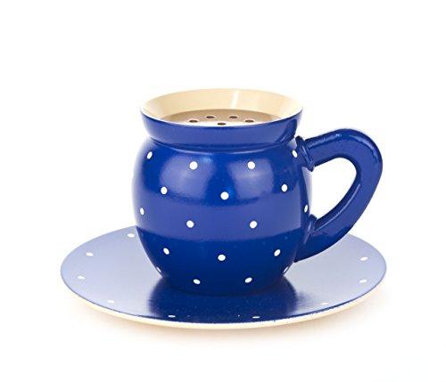 Dregeno Dampfende, Holz, Kaffeetasse blau