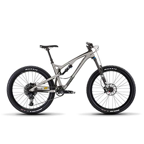 Release 4C Carbon Full Suspension Mountain Bike, Silver, 17'/MD