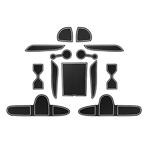 YEE PIN Sonata Door Gate Slot Mats Door Mats Fit for 2020 Sonata DN8 Sedan Center Console Liner Accessories Non-Slip Anti-dust Rubber Mats 13 Pcs//Set Red
