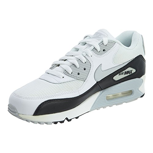 Nike Herren Air Max 90 Essential Low-Top, Weiß (White/Pr Platinum-Blk-Pr Pltnm), 40 EU