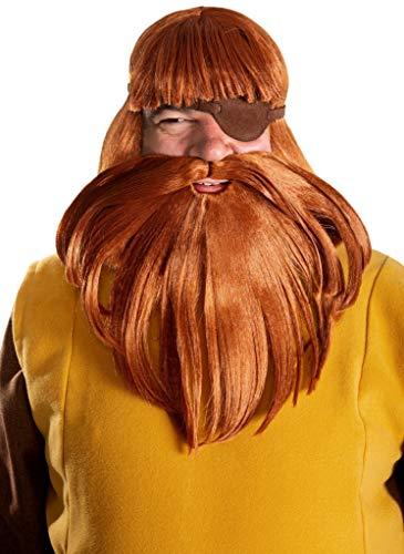 Maskworld Halvar - Vater von Wickie - Perücke-Bart-Set zum Kostüm für Erwachsene - Wikinger Verkleidung für Karneval, Fasching & Motto-Party