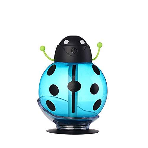 Humidificadores, difusores de aroma con, difusor de aceites esenciales, nuevo Mini Mini Beetle Humidificador Luz de vehículo de vehículo Limpiador de aire de 360 grados Dibujos animados en aerosol p