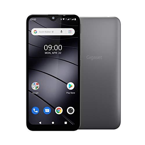 "Gigaset GS110 Smartphone (6,1"" V-Notch HD-Display, Gesichtserkennung, Dual-Sim, 16GB Speicher, 1GB RAM, Akku 3000 mAh, 4G LTE, Android 9.0, Handy, ohne Vertrag) titanium grey"