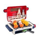 TWW Estimulación Eléctrica Spray Grill Luz Música Comida Cambio De Color Niños Jugar Casa Juguete Bebé Cocina Cognitiva Condimento Verduras