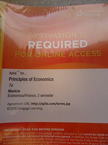 Principles of Economics - Aplia 2 Semesters Access - 7th edition