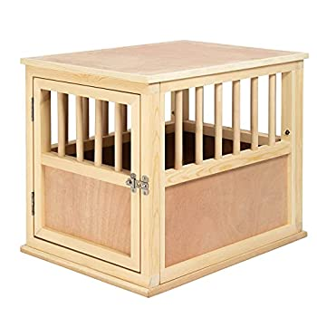 Solid Wood Dog Crate Kennel Furniture Style for Small Size Dog 26-inch End Table Original