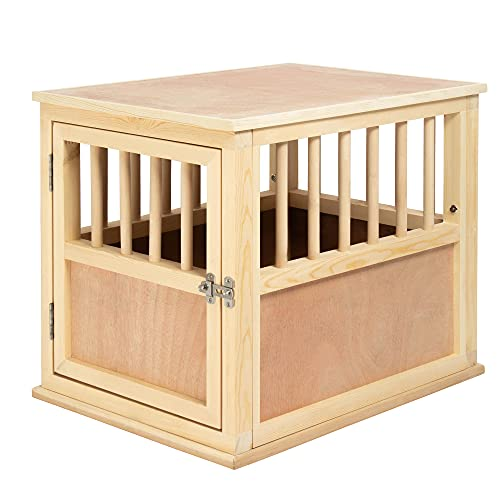 Solid Wood Dog Crate Kennel - Furniture Style