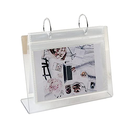 Desktop Mini Photo Album Collection Large Capacity Flip Calendar Style Photo Album 68 Pockets Compatible with All Instant Print Digital Cameras 5'' x 6''