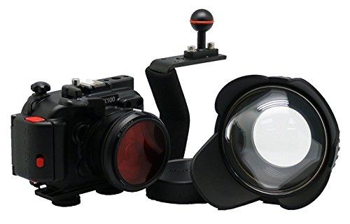 hofoo aluminio Buceo Submarino 100m/352ft impermeable IP8X Grade Funda de cámara para Sony DSC RX100