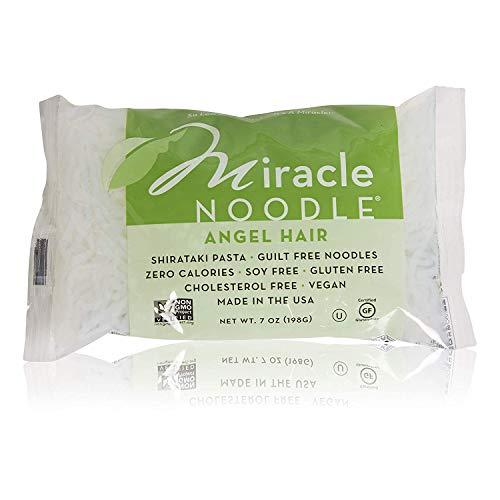 Miracle Noodle Shirataki Angel Hair Pasta, Gluten-Free, Zero Carb, Keto, Vegan, Soy Free, Paleo, Blood Sugar Friendly, 7oz (Pack of 12)