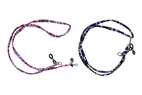 cuelga mascarillas cordon para mascarillas con mosqueton PACK de DOS UNIDADES ajustables correa mascarilla uso cordon para gafas mujer y hombre. unisex