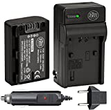 BIG MIKE'S ELECTRONICS BM Premium NP-FH50 Battery and Charger for Sony CyberShot DSC-HX1 DSC-HX100V DSC-HX200V HDR-TG5V DSLRA230 DSLRA290 DSLRA330 DSLRA380 DSLRA390 Digital SLR Cameras