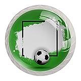 Tirador de armario de cocina Football Soccer-01 (4 unidades)