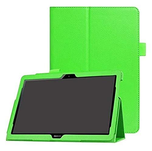 YNLRY Accesorios para Huawei MediaPad T3 10 9,6 pulgadas AGS-L09 AGS-W09 AGS-L03, funda de piel sintética con tapa para Huawei T3 10 (color: verde)