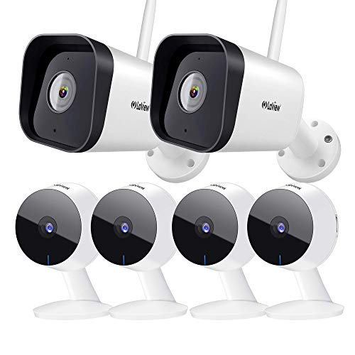 Laview Security Camera Outdoor 1080P HD,WiFi Cameras Waterproof,Home Security Cameras with AI Human Detection,Two-Way Audio,Night Vision,Compatible with Alexa,SD Slot&USA Cloud Storage(2 Pack)