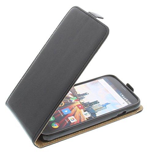 foto-kontor Tasche für Archos 50 Helium Plus Smartphone Flipstyle Schutz Hülle schwarz