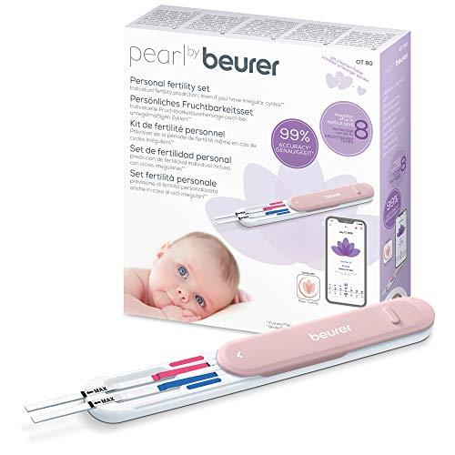 Pearl by Beurer Fruchtbarkeitsset OT 80, für Kinderwunsch und Familienplanung, Zyklustracking, berechnet Eisprung und bis zu 8 fruchtbare Tage, inkl. Schwangerschaftstest
