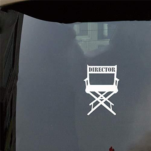 Dozili - Vinilo adhesivo para silla de director de película de coche, estilo personal, para ventana de coche, portátil, 6 cm